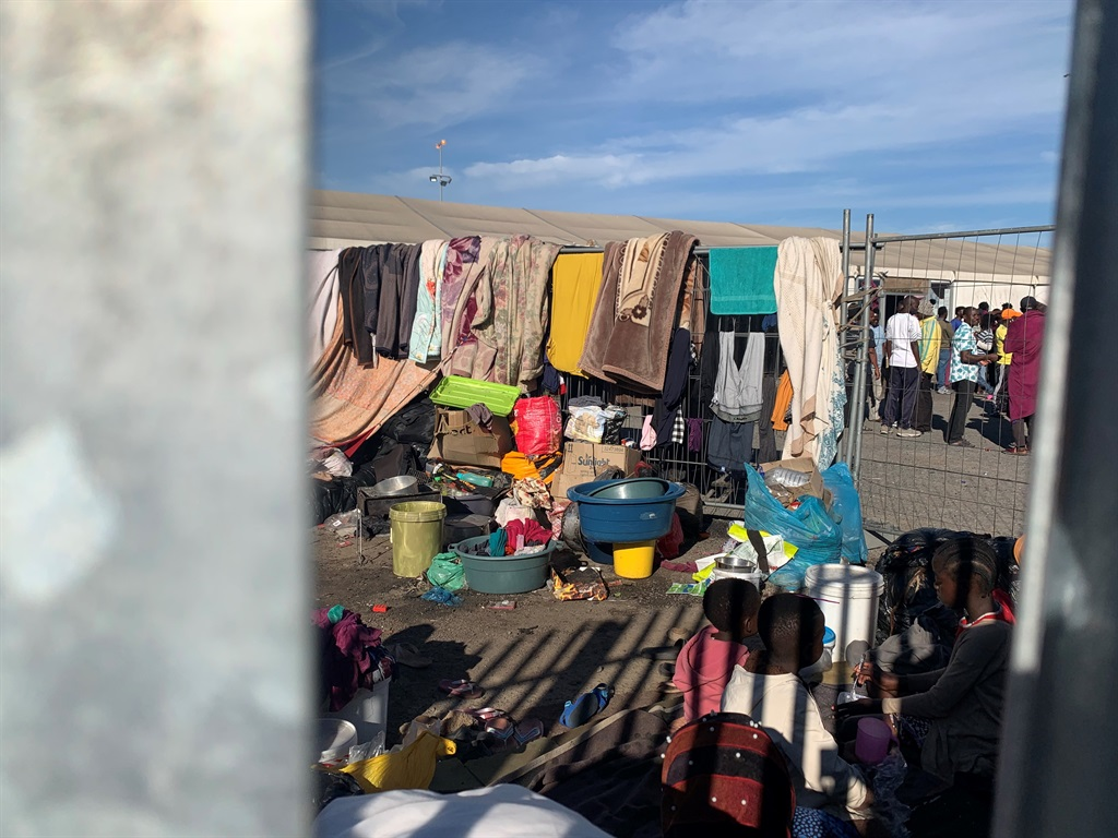 Cape Town Refugees kicked out of marquee tent at Bellville Paint City
