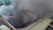 See footage of the blaze that engulfed a Joburg supermarket