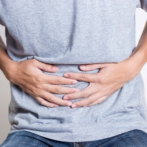 man with abdominal pain and diarrhoea