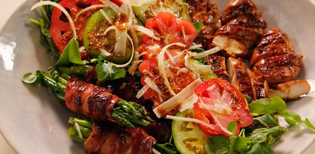 recipe, salad, bacon,chicken