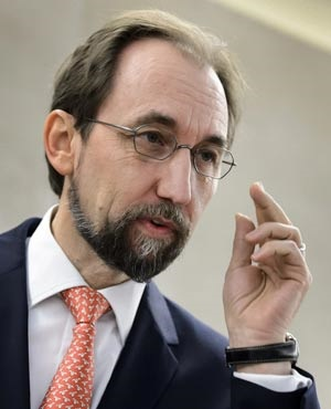 United Nations High Commissioner for Human Rights Zeid Ra'ad Al Hussein. (File, AP)
