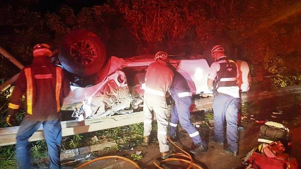 Authorities are investigating the cause of the accident on the M4 North bound near Edwin Swales in Durban on Saturday night.