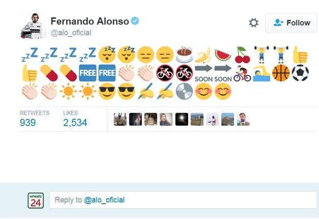 Decoding 'funnyman' Fernando Alonso's cryptic tweet | Wheels24