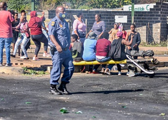 Edendale Road still blocked as protests continue over electricity disconnections