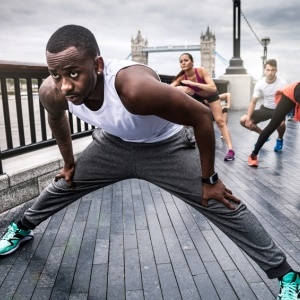 Man with adult ADHD exercising