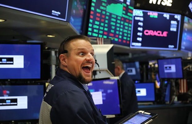<p>Wall Street stocks surged higher  as a batch of strong earnings reports 