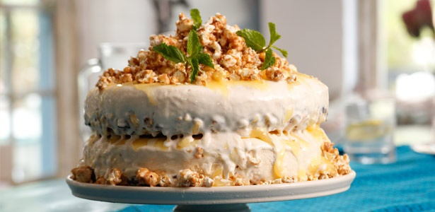 recipe, popcorn, caramel, ice cream, cake, dessert