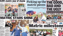 Newspapers continue their matric results coverage
