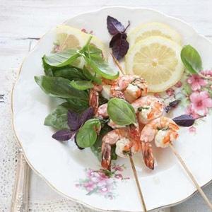 recipe, prawns,basil