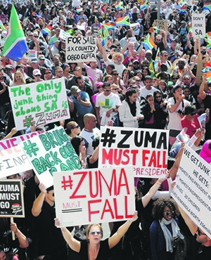 South Africans from all backgrounds protesting against President Jacob Zuma Picture: Brenton Geach / Gallo Images