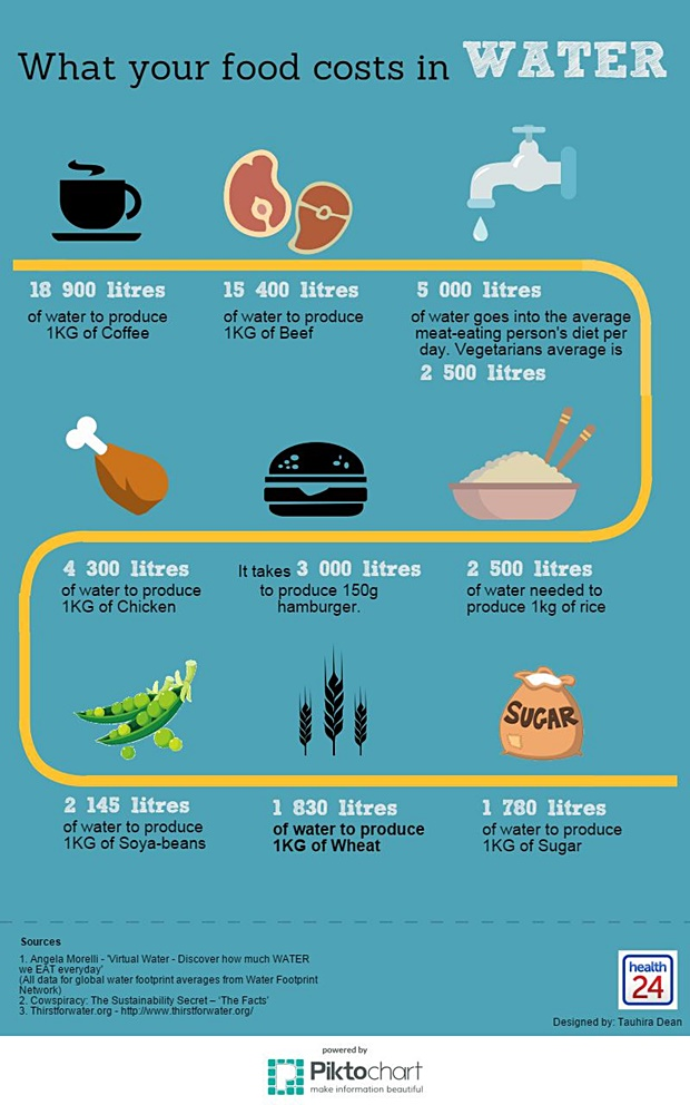 What your food costs in water