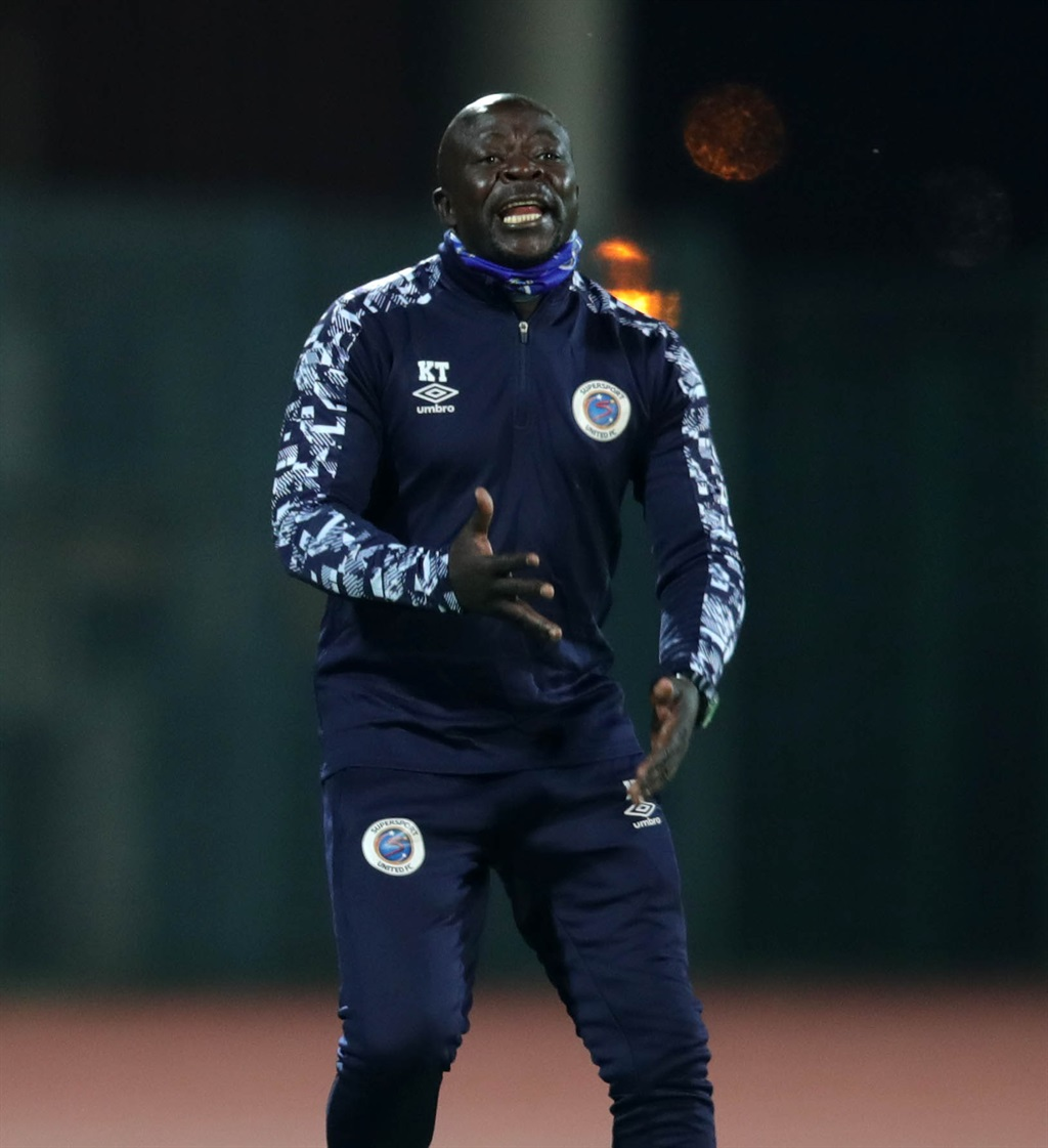 Kaitano Tembo, coach of Supersport United reacts d