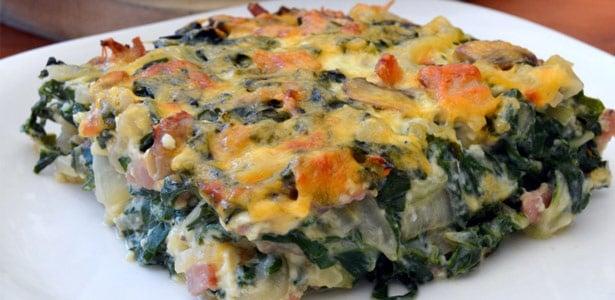 recipe, breakfast, spinach,quiche,low carb