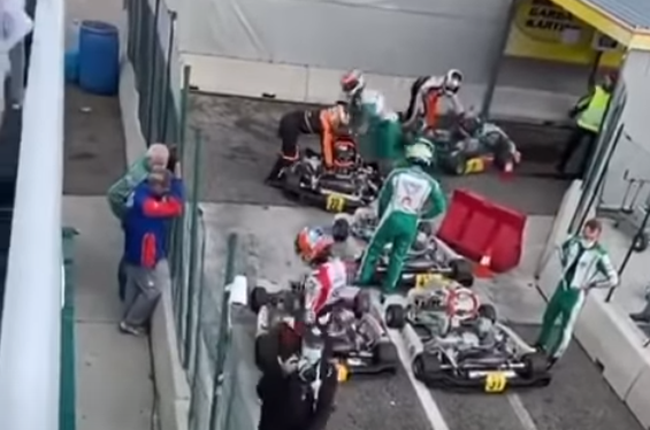 Luca Corberi attacking Paolo Ippolito after the race (Greg Drou / YouTube)