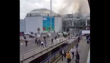 WATCH: Mass evacuation after bombs explode at Brussels airport