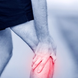Image of knee pain from osteoarthritis