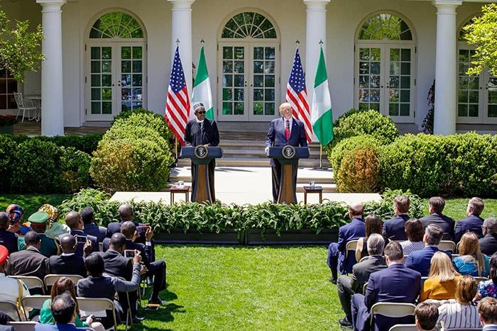 Muhammadu Buhari and donlad trump hold talks