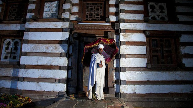 The church of Yemrehanna Kristos is one of Ethiopia's best-preserved late Axumite churches, and is named for a twelfth-century Zagwe priest-king and saint.