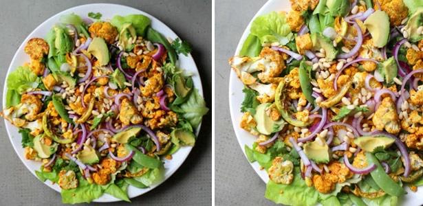 recipe, cauliflower,salad,spice