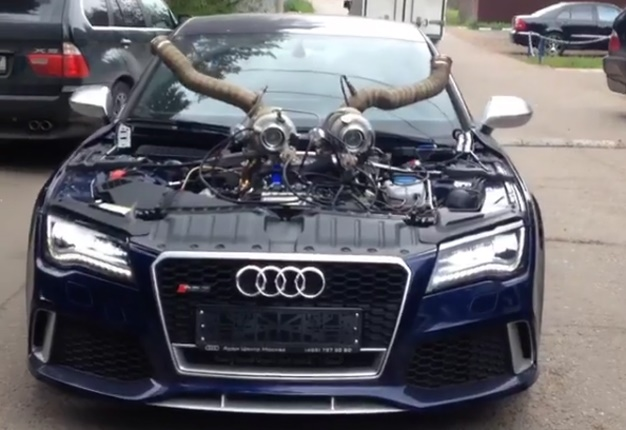 watch this tuned audi rs7 has gone viral wheels24. Black Bedroom Furniture Sets. Home Design Ideas