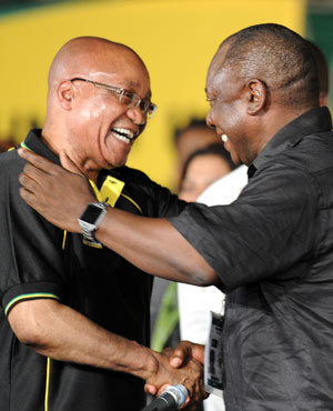 President Jacob Zuma and Deputy President Cyril Ramaphosa. (AFP)