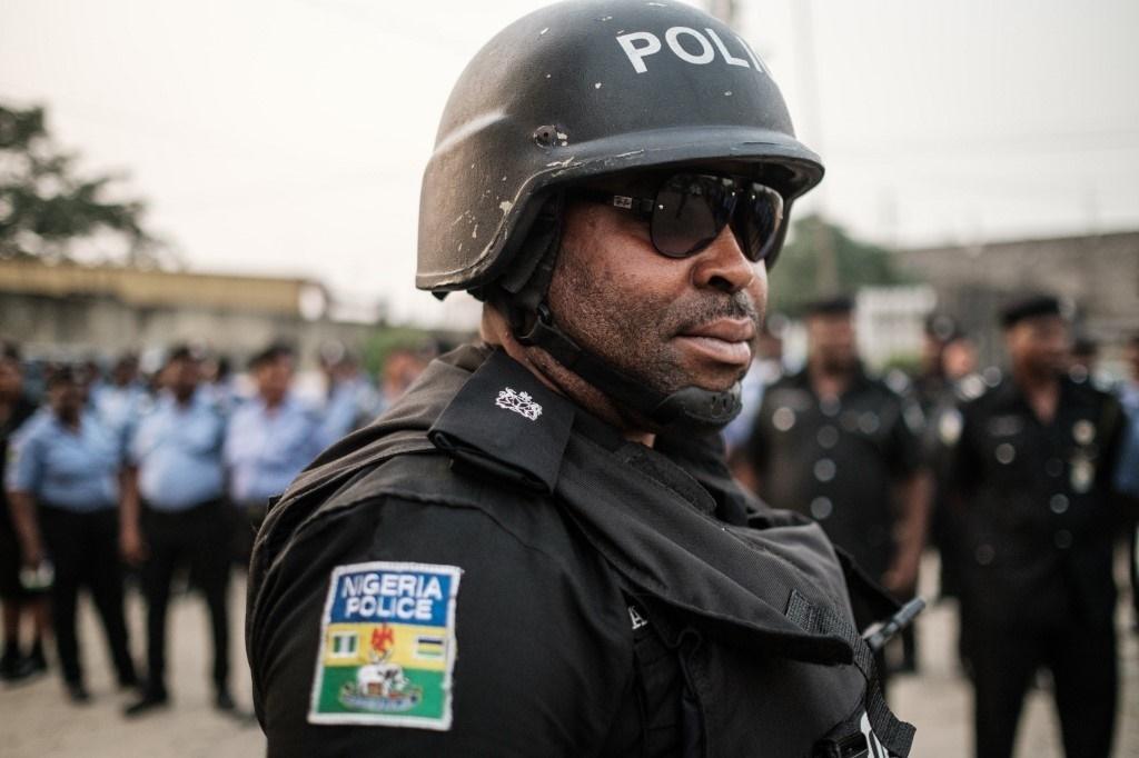 A Nigerian police officer.
