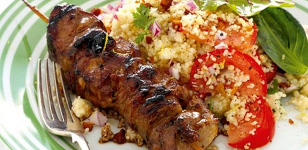 recipe, pork, couscous,sosaties