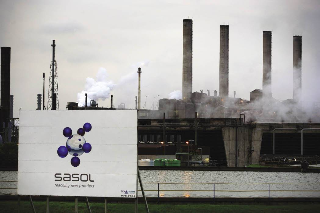 Sasol recently revised its target to reduce greenhouse gas emissions by 30% by the year 2030.
