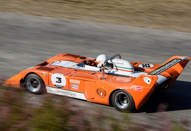 <b> KING OF THE HILL: </b> Franco Scribante in his Suzuki-powered Chevron was the fastest man up the Simola Hill. <i> Image: Motorpress </i>