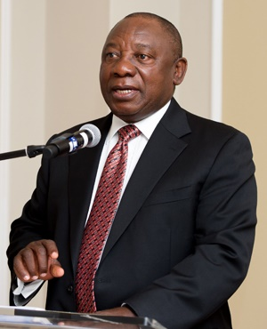 Deputy President Cyril Ramaphosa addresses a delegation of the Federation of Economic Organisation of Japan.