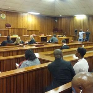 Oscar Pistorius in court (Naledi Shange, News24)