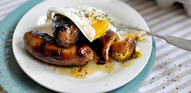 recipe, breakfast, sausages, honey, chipotle