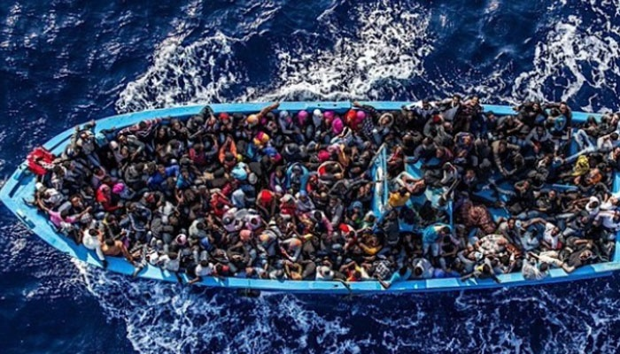 Migrants in Mediterranean Sea