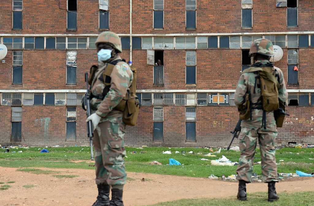 The army in Alexandra. Picture: Felix Dlangamandla/File