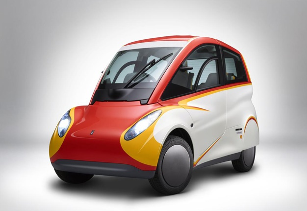 <b>SMART CAR MEETS RENAULT TWINGO:</b> Shell hopes to shake-up the urban transport market with the unveiling of its radical concept car. <i> Image: Newspress </i>