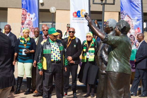 Jacob Zuma outside the ANC policy conference venue in Johannesburg. (Supplied)