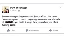 Matthew Theunissen still a trending topic