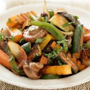 Oondgeroosterde groente