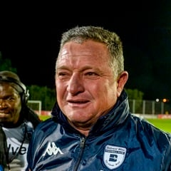 Coach Gavin Hunt celebrated as Wits took the PSL title. (Sydney Seshibedi, Gallo Images)