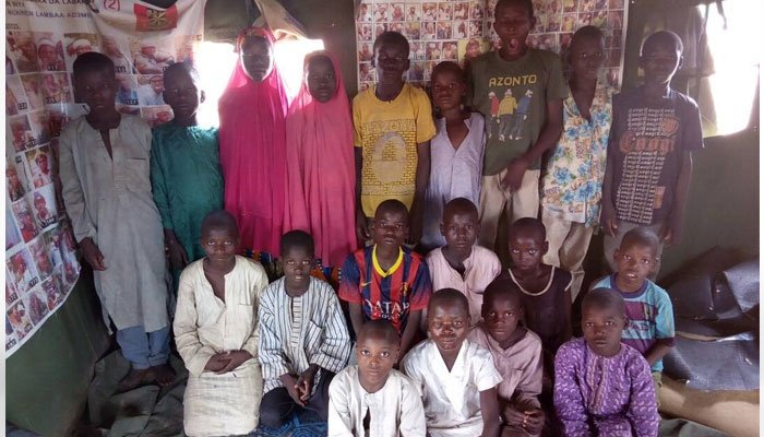 children rescued from child traffickers.