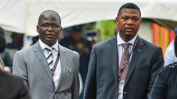 Current mayor Chris Ndlela (left), who was nominated bottom of the list during an ANC conference, placing his political future in doubt, standing next to current deputy mayor Thobani Zuma, who has been tipped as the next mayor.