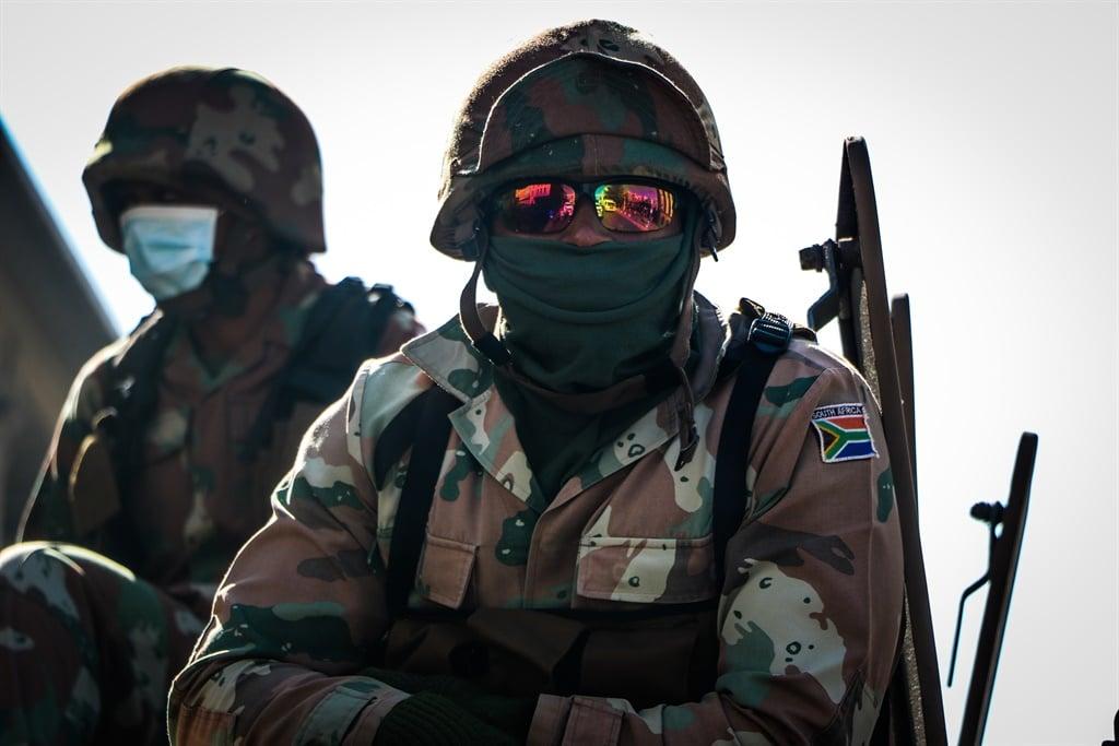 SANDF troops