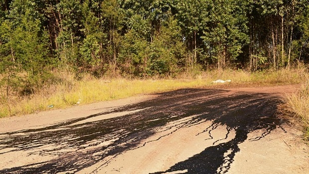 Wildlife enthusiasts strolling through the Karkloof Sappi forest should not be alarmed if they see a black oil-like substance covering the dirt roads. The substance is an environmentally-friendly dust suppressant used by Sappi.