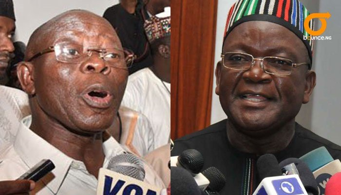 Oshiomhole says ortom exit brings relief