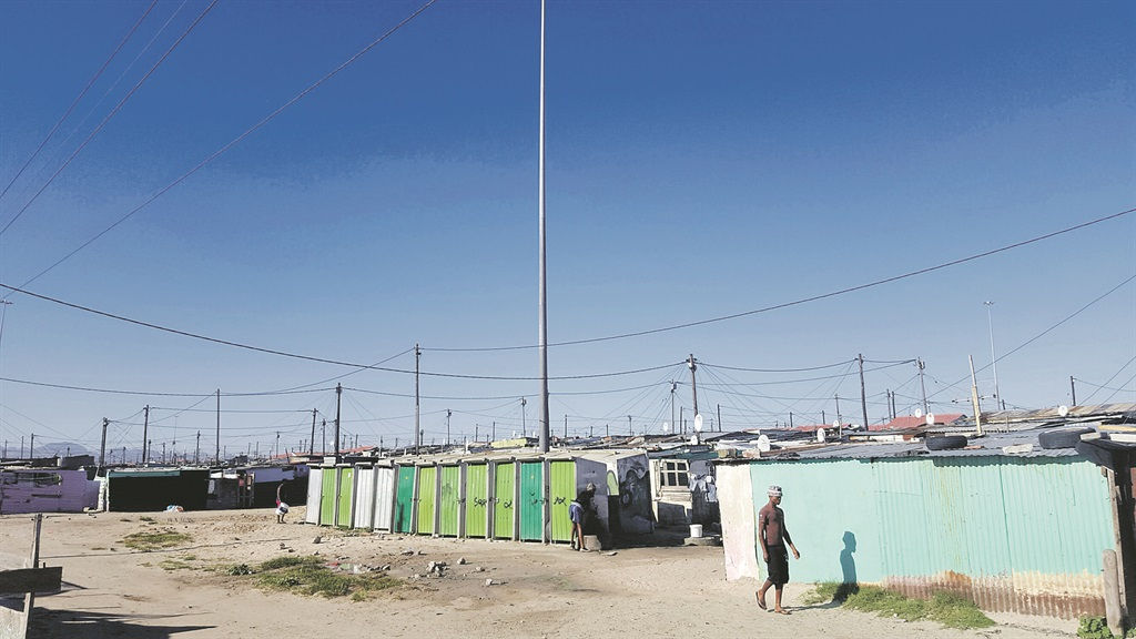 The communal toilets in Blowey, a section of Town Two in Khayelitsha. Picture: Ray Joseph/Code4SA