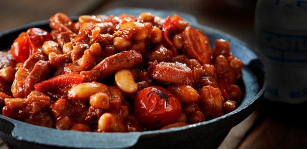 recipe, stew, winter, chorizo,beans