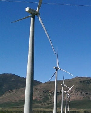 This wind farm is seen outside the town of Gouda in the Western Cape. (Duncan Alfreds, News24)