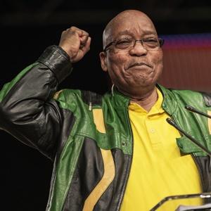 President Jacob Zuma during his closing speech. (Gianluigi Guercia, AFP)