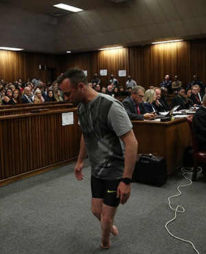Oscar Pistorius in the courtroom  (Siphiwe Sibeko, Pool Photo via AP)