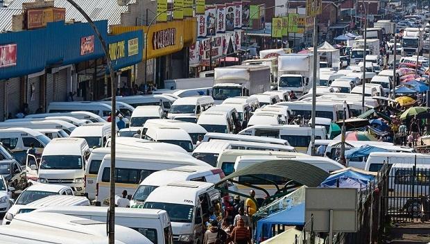 Pietermaritzburg's minibus taxis.